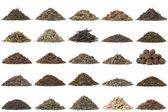 Aassortment of dry tea — Stock Photo