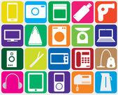 Twenty gadgets — Stock Vector