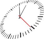 Horloge isolé sur fond blanc — Vecteur