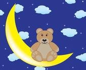 Bear is sitting on the moon — Stockvektor