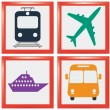 Transport icons — Stock Vector #39537025