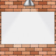 Stock Vector: Brick wall with white frame