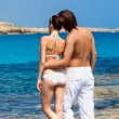 Stock Photo: A couple in the sea