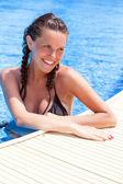 Relájese en la piscina — Foto de Stock
