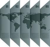 世界地图与图表 — 图库矢量图片