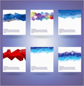 Collection of six abstract triangle backgrounds — Stock Vector