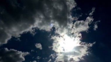 HD video of blue sky with clouds. Timelapse — 图库视频影像