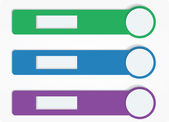 Three bookmarks — Stock Vector