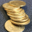Stock Photo: Column of coins