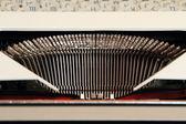 Letras de máquina de escrever. — Fotografia Stock