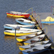 Stock Photo: Mooring with boats.
