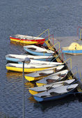 The mooring with boats. — Stock Photo