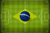 Concept for Brazil 2014 football world cup. — Stock Photo