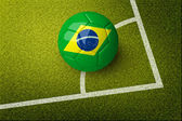 Concept for Brazil 2014 world football cup. — Stock Photo