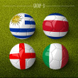 Brazil 2014, group D. — Stock Photo