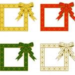 Christmas ribbon Frame — Stock Vector