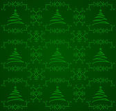 Green Christmas Tree Background — Stock Vector