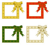 Christmas ribbon Frame — Stock Vector