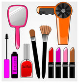 Cosmetic Items — Stock Vector