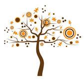 Caduta albero — Vettoriale Stock