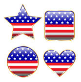 Patriotic Buttons — Stock Vector
