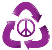 Recycle Peace Sign — 图库矢量图片