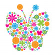 Butterfly Symbolic - Stock Vector