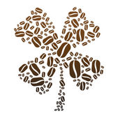 Coffee Bean Clover — Stock Vector
