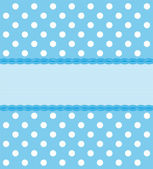 Blue Polkadot Background — Stock Vector
