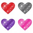 Stock Vector: Glittering Hearts