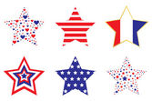 Patriotic Stars — Stock Vector