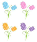 Tulips — Vector de stock