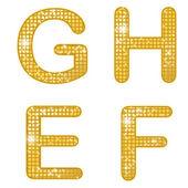 Glittering EFGH — Stock Vector