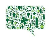 Go Green Speech Bubble — Stock Vector