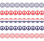 Patriotic Peace Sign Borders — Stock Vector