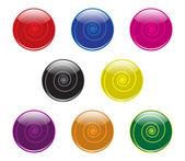 旋流按钮 — 图库矢量图片