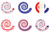 Patriotic Swirls — Stock Vector