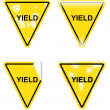Stock Vector: Decorative Yield Signs