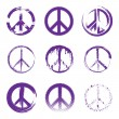 Grunge Peace Signs — Stock Vector #30123971