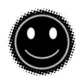 Halftone Smile — Stock Vector