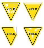 Decorative Yield Signs — Stock Vector