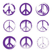 Grunge Peace Signs — Stock Vector