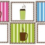Pinstripe Coffee Tiles — Stock Vector #9469752