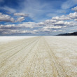 Playa of the Black Rock Desert under a stormy sky east of Gerlac - Stock Photo