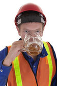Drunk at work — Stock Photo