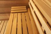 Sauna bench detail — Stock Photo