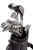 Variety of golf clubs — Stock Photo