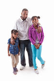 Father and daughters — Stock Photo