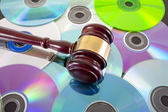 Music copy right law concept — Stock Photo