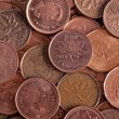 Bulk Canadian penny — Stock Photo